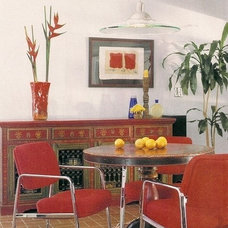 Eclectic Dining Room by Linda Robinson Design Associates
