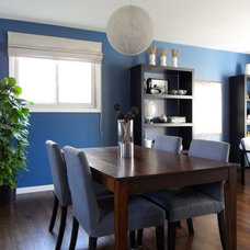 Modern Dining Room by Lindsay Down