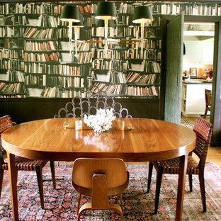 Dining room - eclectic medium tone wood floor dining room idea in Los Angeles