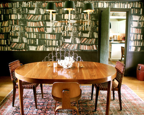 Houzz Wallpaper Dining Room: Bookcase Wallpaper