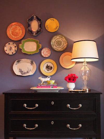 Eclectic Dining Room by Little Black Door Designs