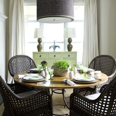 Beach Style Dining Room by Liz Williams Interiors