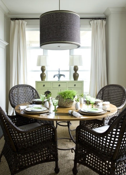 eclectic dining room by Liz Williams Interiors