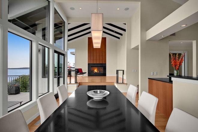 Transitional Dining Room by Logan's Hammer Building & Renovation