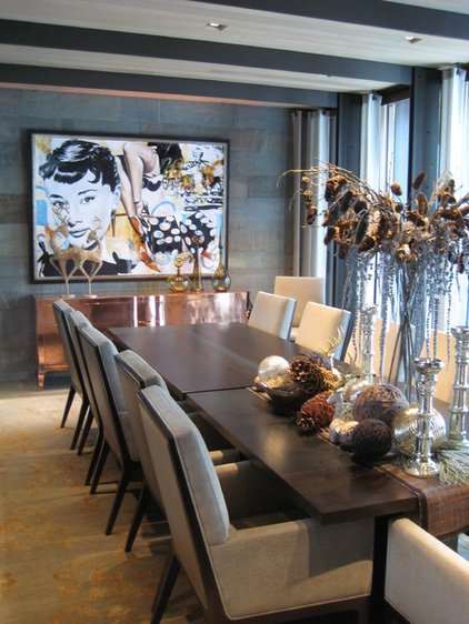 contemporary dining room by Walsh Design Group, Inc.