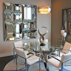 Contemporary Dining Room by Mauricio Nava Design