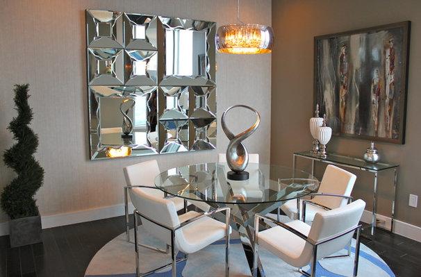 Contemporary Dining Room by Mauricio Nava Design