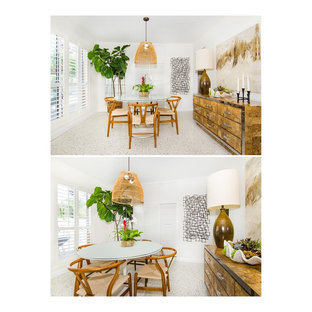 Design ideas for a midcentury dining room in Miami.