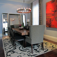 Eclectic Dining Room by Michael Goodsmith Design