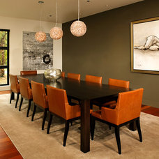 Modern Dining Room by Michelle Miller Interiors