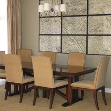 Transitional Dining Room by Molly McGinness Interior Design