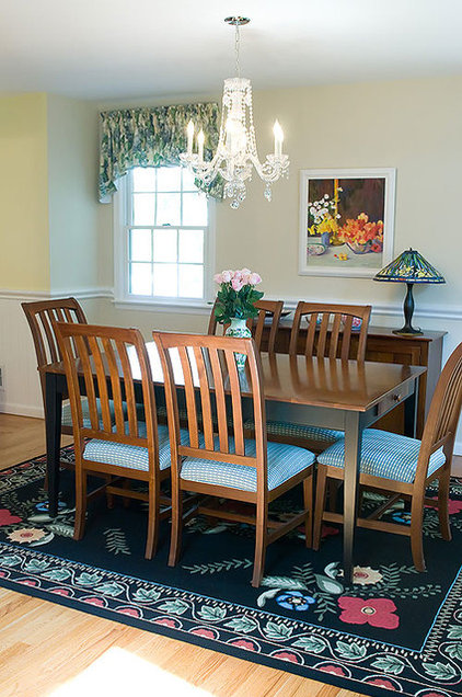 Eclectic Dining Room by Nanette Baker of Interiors by Nanette, LLC