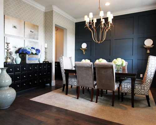 High Quality Inspiration For A Large Contemporary Dark Wood Floor And Brown Floor  Enclosed Dining Room Remodel In