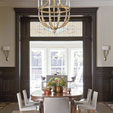 Transitional Dining Room by Neuhaus Design Architecture, P.C.