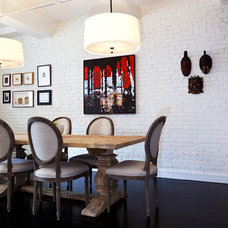 Eclectic Dining Room by Promenade Design + Build