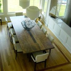 Contemporary Dining Room by Nicole Freezer Rubens