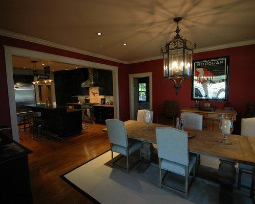 Coastal dining room design ideas renovations photos for Dining room decorating ideas red walls