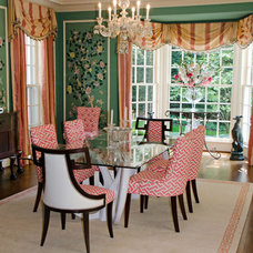 Eclectic Dining Room by Riley Art and Interiors