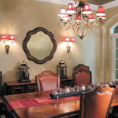 mediterranean dining room by P. Scinta Designs, LLC
