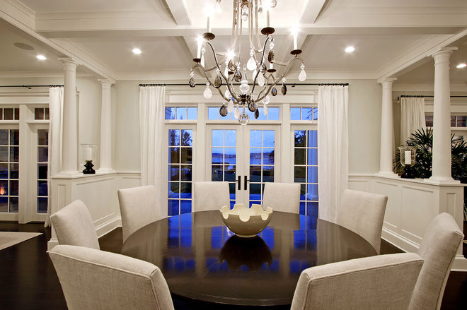 Traditional Dining Room by Paul Moon Design