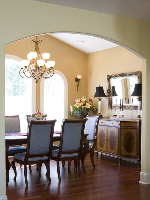 Mediterranean dining room design ideas renovations for Orange dining room design ideas