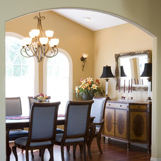 Mediterranean Dining Room by Paul Moon Design