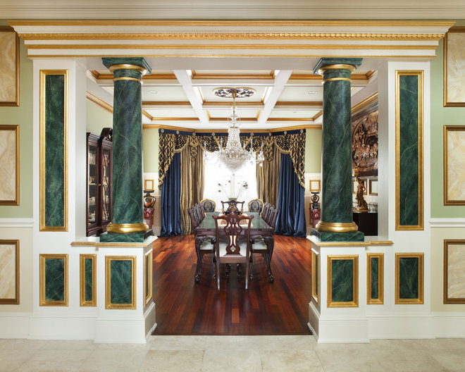 Traditional Dining Room by Prestige Custom Building & Construction, Inc.