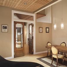 Contemporary Dining Room by Prestige Custom Building & Construction, Inc.