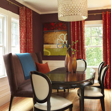contemporary dining room by Rachel Reider Interiors