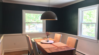 Dining Room Revival from Cool Green to Deep Blue