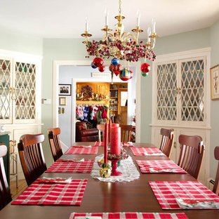 Inspiration for a traditional dining room in New York.