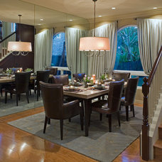 Contemporary Dining Room by Robeson Design