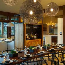Farmhouse Dining Room by Rozewski & Co., Designers, LLC