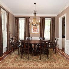 Eclectic Dining Room by Sandra Ericksen Design