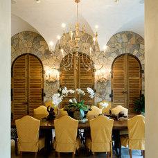 Mediterranean Dining Room by Sandy Spring Builders