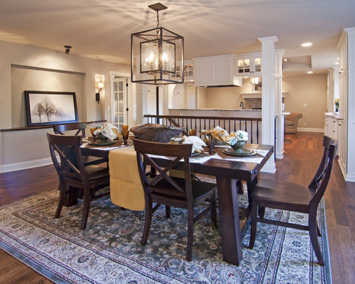 dinette lighting fixtures. example of a classic dark wood floor dining room design in minneapolis with beige walls dinette lighting fixtures d