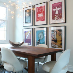 contemporary dining room by Shirley Meisels