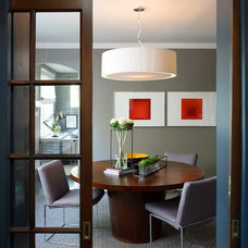 Contemporary Dining Room by Sightline Art Consulting