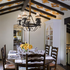 Mediterranean Dining Room by SoCal Contractor