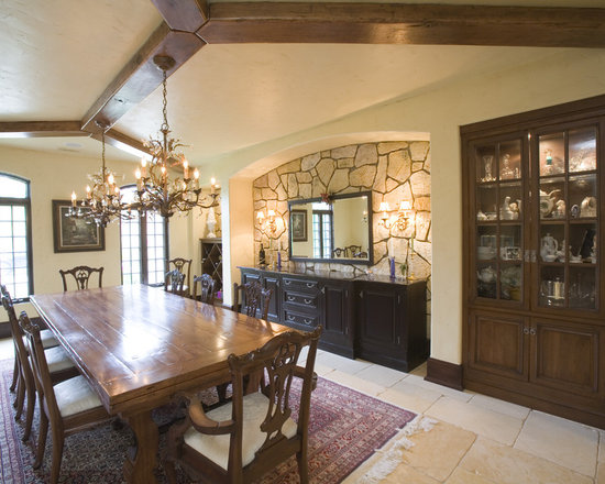 recessed niche dining room design ideas, remodels & photos