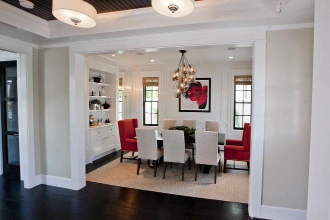 Transitional Dining Room by Spinnaker Development