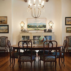 Eclectic Dining Room by Gibson Gimpel Interior Design