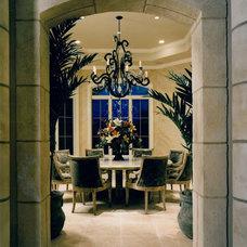 Mediterranean Dining Room by STUDIO MB
