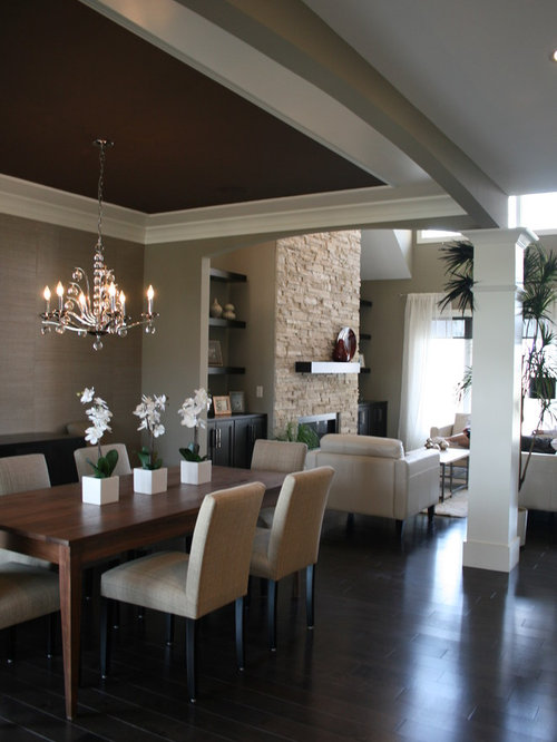 Dining Room Dark Romantic: Dark Ceiling Color Home Design Ideas, Pictures, Remodel