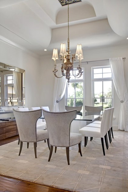 mediterranean dining room by Sunscape Homes, Inc