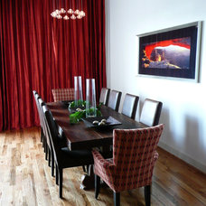 Contemporary Dining Room by Sweetlake Interior Design LLC