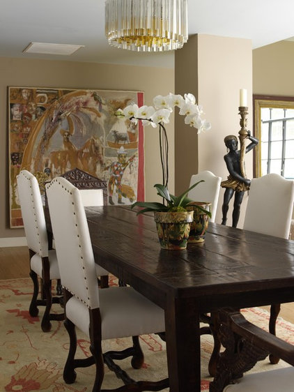 eclectic dining room by Tara Seawright
