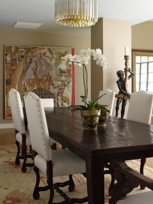 elegant dining rooms. Mid sized elegant light wood floor great room photo in New York with beige  walls Elegant Dining Table Houzz