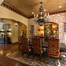 Mediterranean Dining Room by Terry M. Elston, Builder