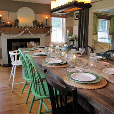 Eclectic Dining Room by The Painted Home